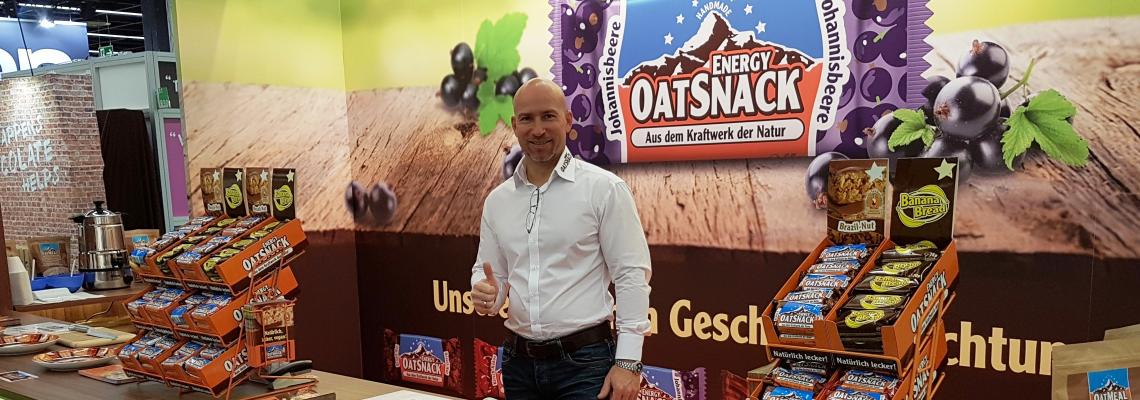 エナジーオーツスナック:独ビーガン食展示会に出展