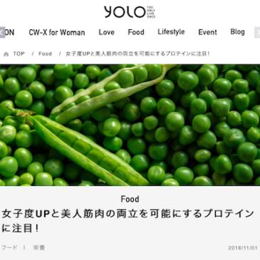 YOLOで商品が紹介されました